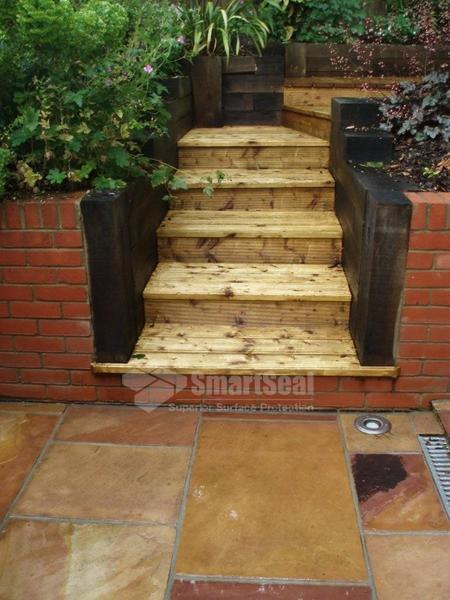 Slabs and steps after cleaning and sealing